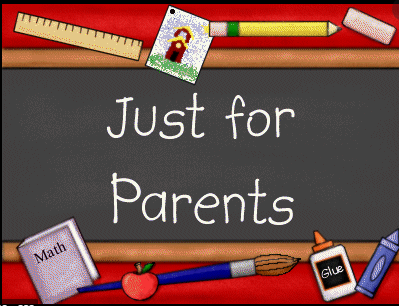 Just for parents text graphic